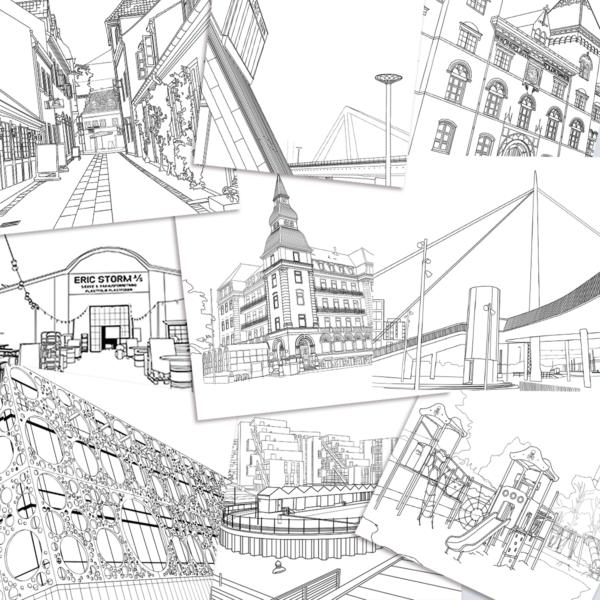 collage af Malebog Odense