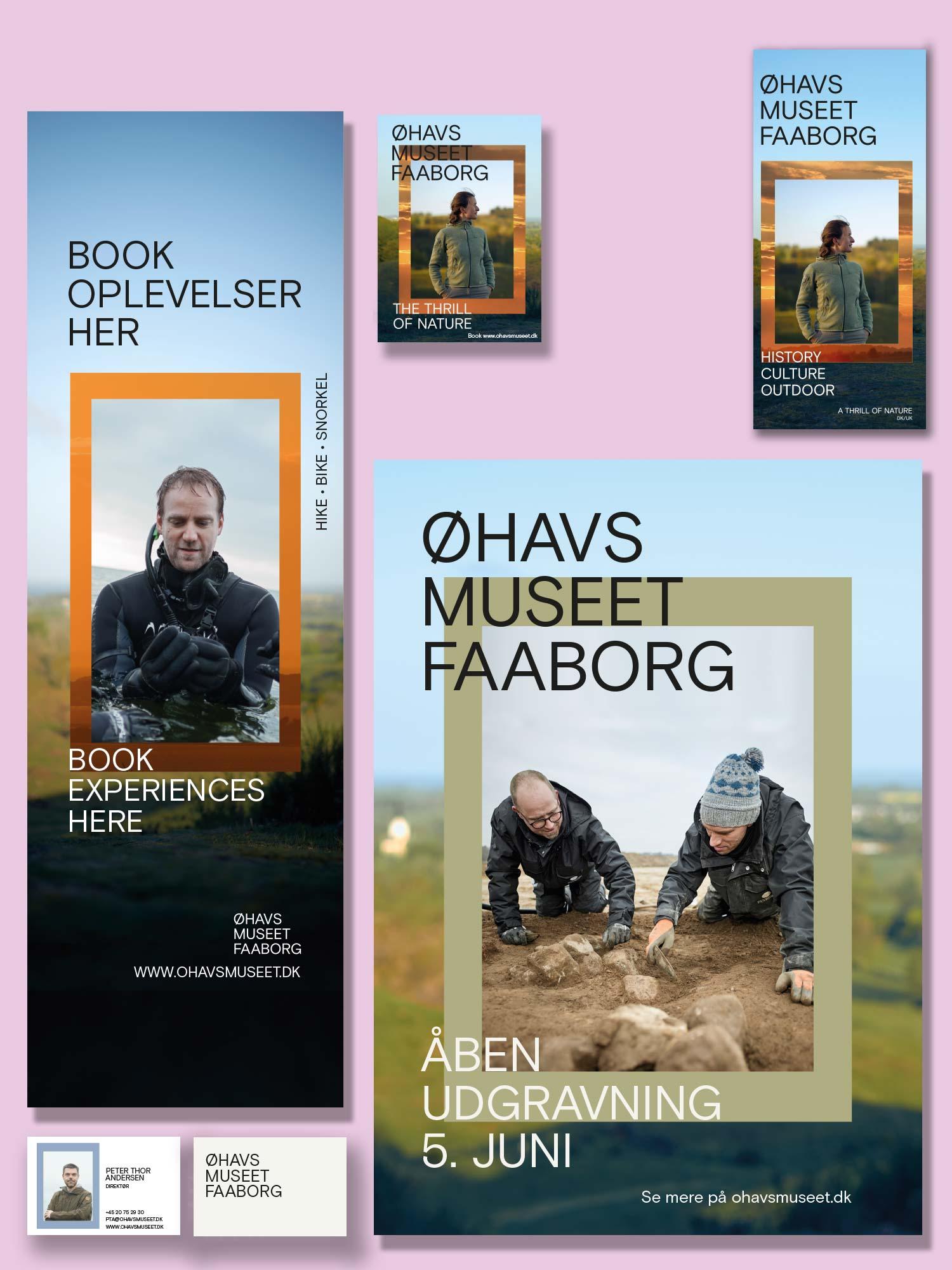 Udfoldelse af visuel identitet for Øhavsmuseet Faaborg
