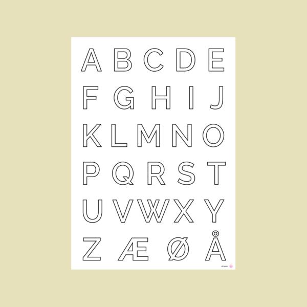 ABC plakat i store bogstaver