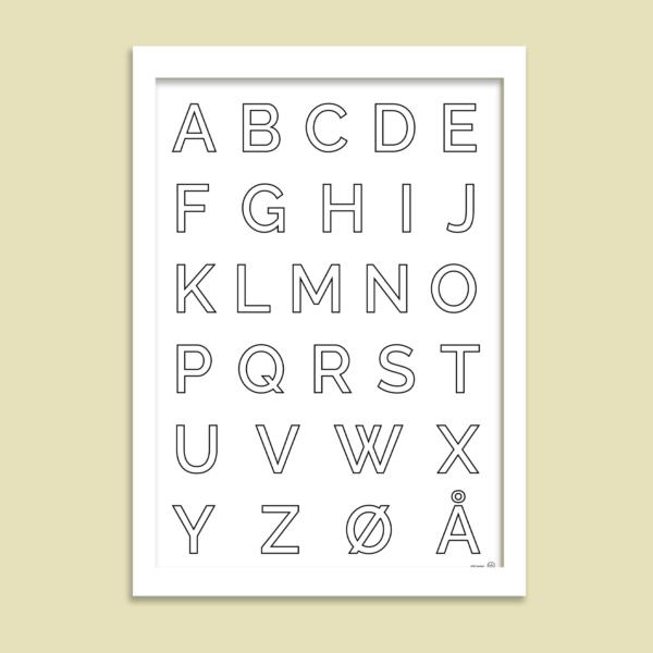 ABC plakat majuskel