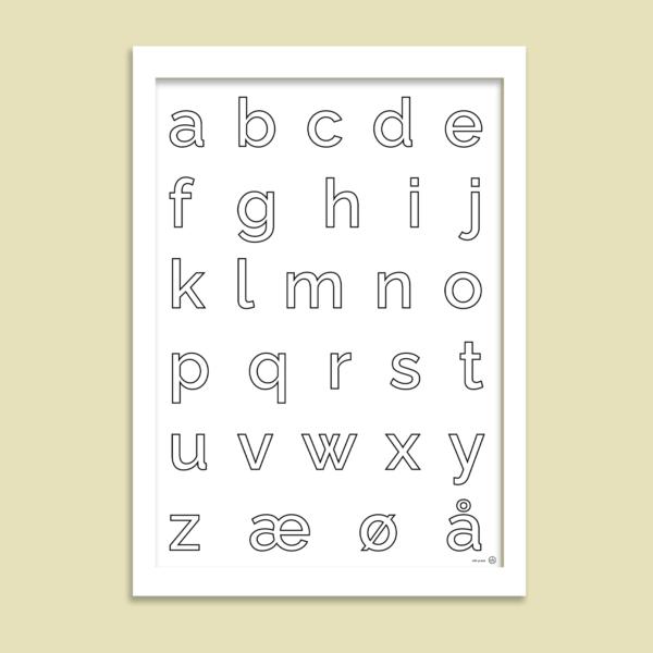 ABC plakat med småbogstaver
