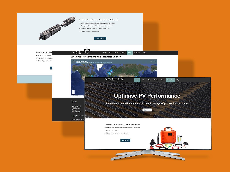 Websidedesign for Emazys