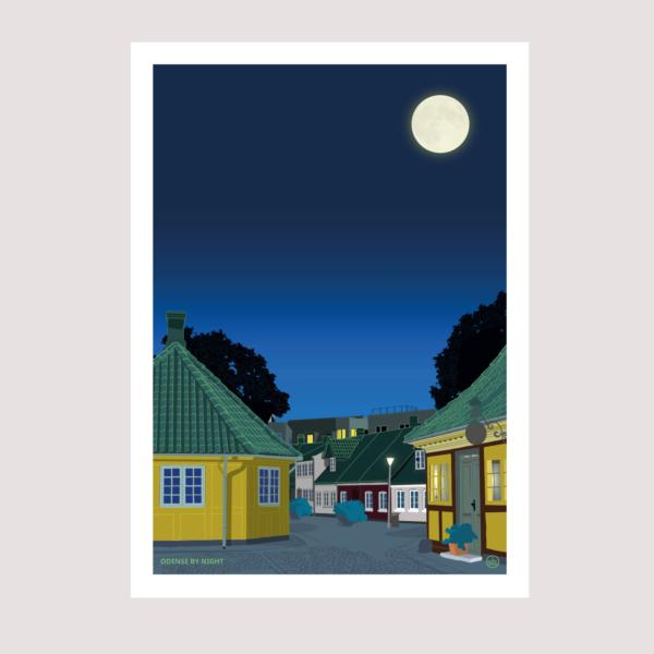 Odense by night plakat